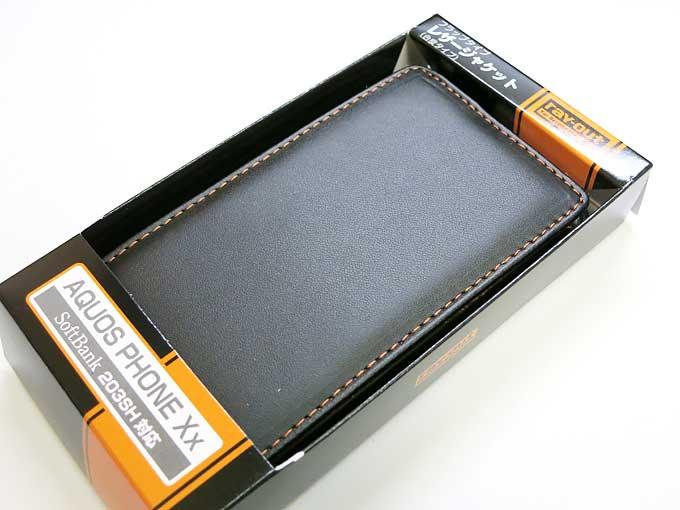 レイアウト AQUOS PHONE Xx 203SH用カバー フラップタイプ・レザー(合皮タイプ)/ブラック 製品型番:RT-203SHLC1/B