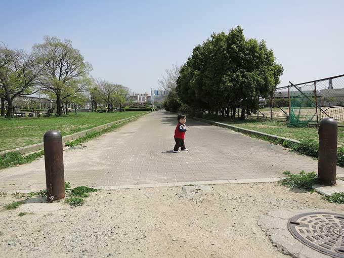 駐車場から浜甲子園運動公園