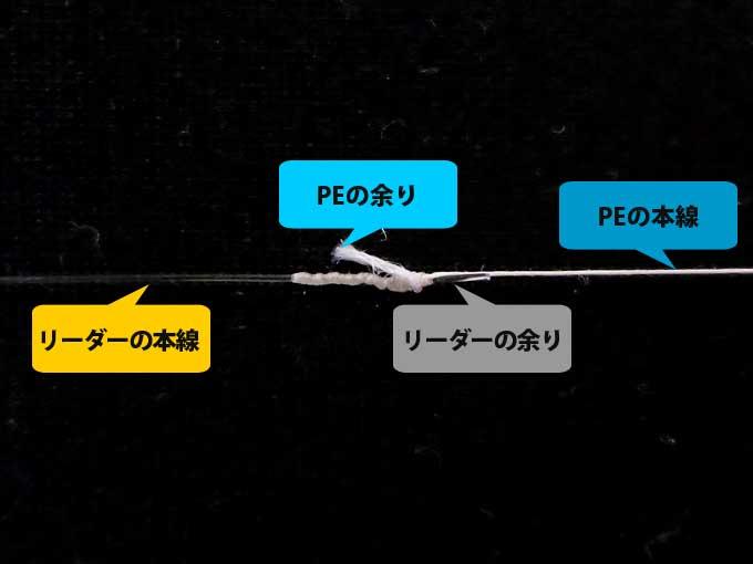 【図解版】PEラインとリーダー結束「簡単FGノット」 完成