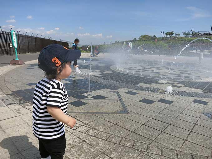 伊丹スカイパーク・噴水にチャレンジ