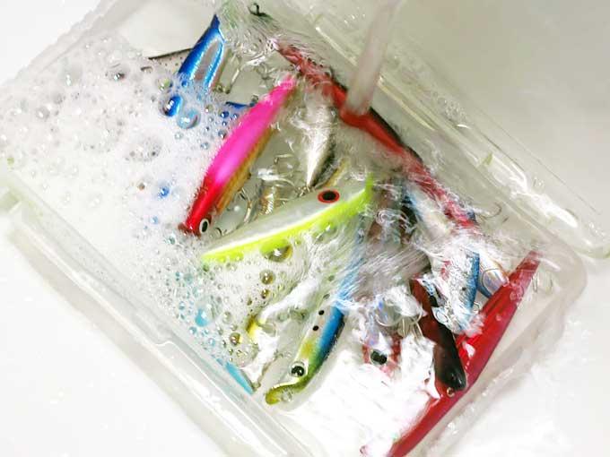 シーバスルアー使用後の洗い方・メンテナンス水洗い