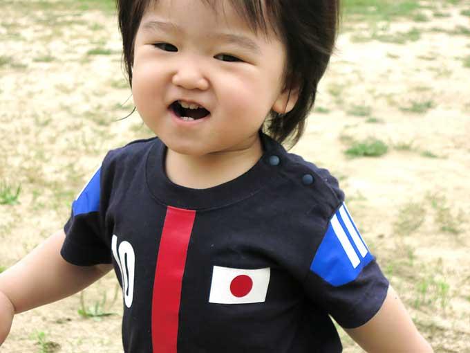 ベビー幼児用のサッカー日本代表ユニフォーム