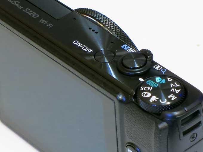 Canon PowerShot S120 シャッターボタン