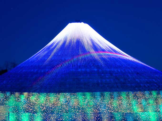 ウィンターイルミネーション・富士山