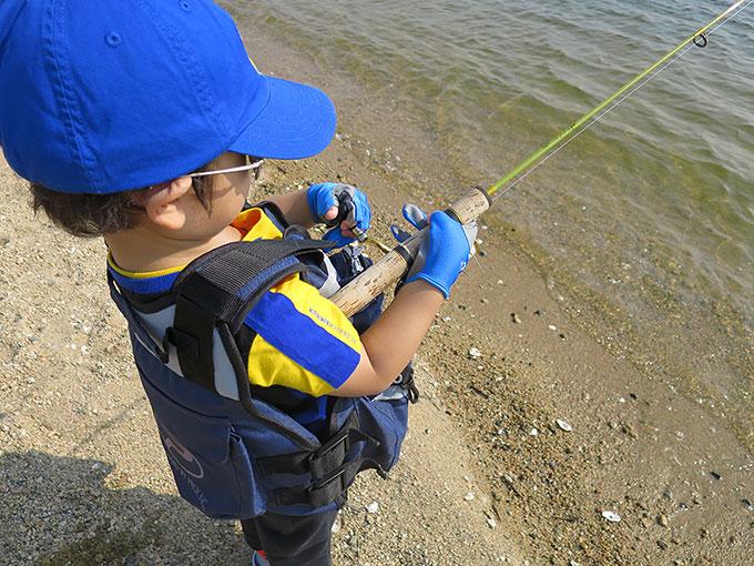 3歳児のシーバス釣り