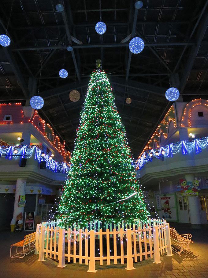 レオマワールドのクリスマスツリー