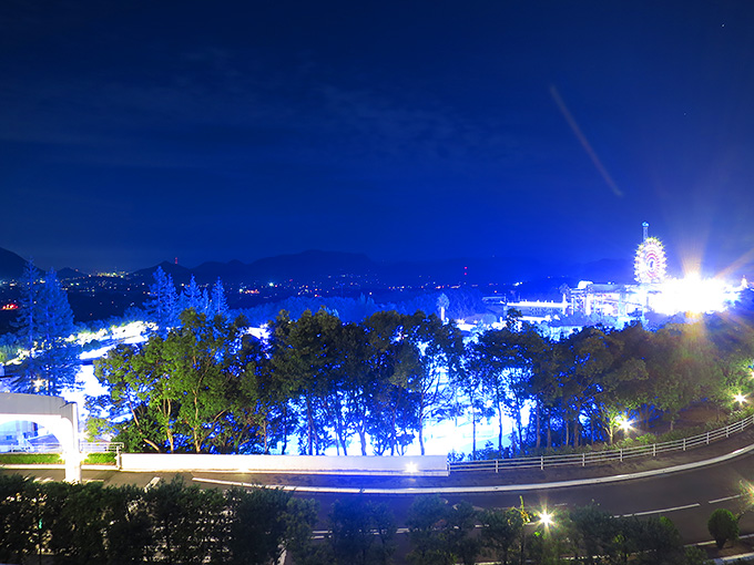 レオマの森・部屋からの夜景