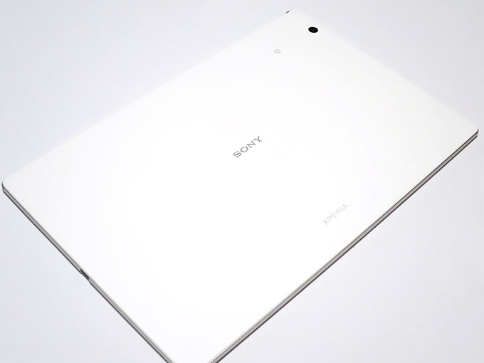 Xperia Z4 Tabletの裏面