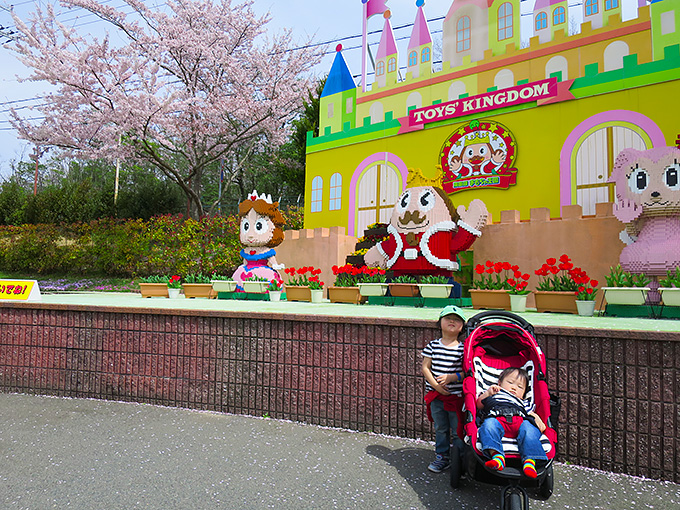 ブロックで作られた東条湖おもちゃ王国