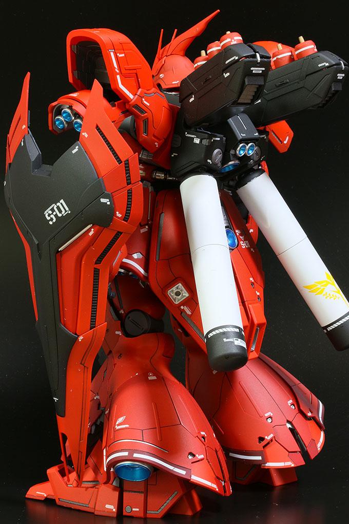 MG サザビー Ver.ka シールド装備の背面