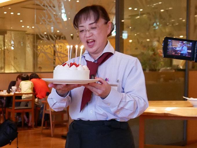 バースデーケーキのサプライズ!!