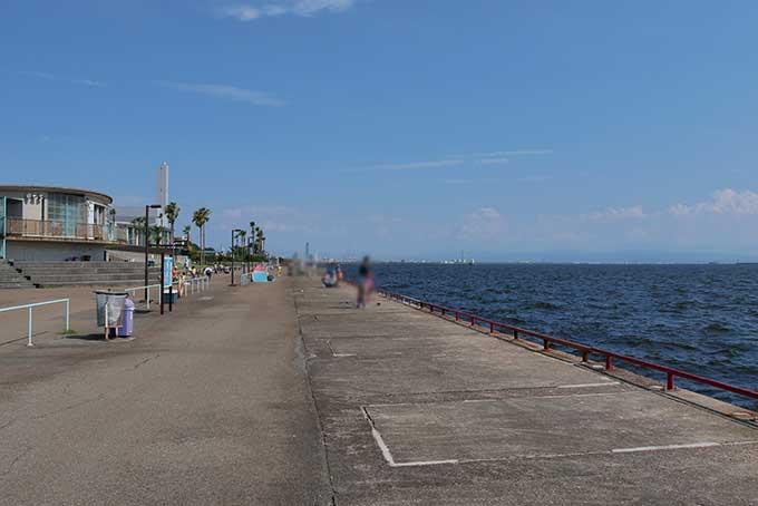 海釣り公園の様子