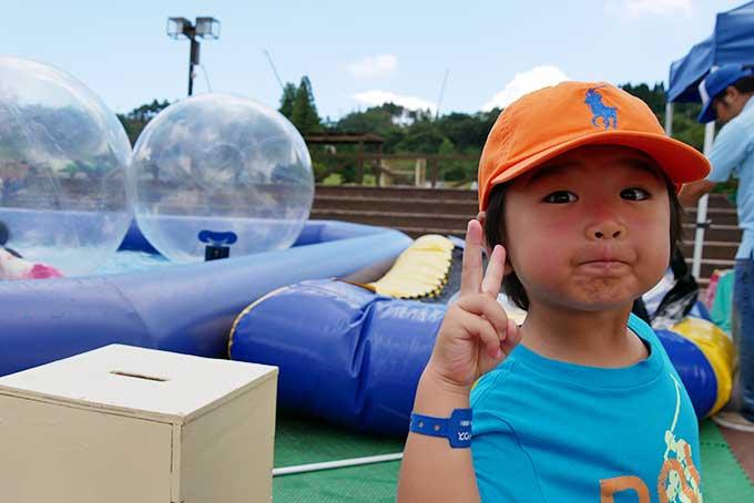バブルボールにチャレンジ!!
