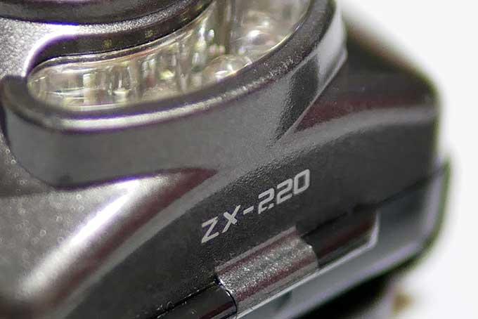 今まで使っていた旧モデルZX-220