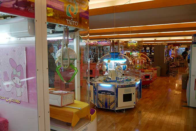 ホテルナガシマのゲームコーナー
