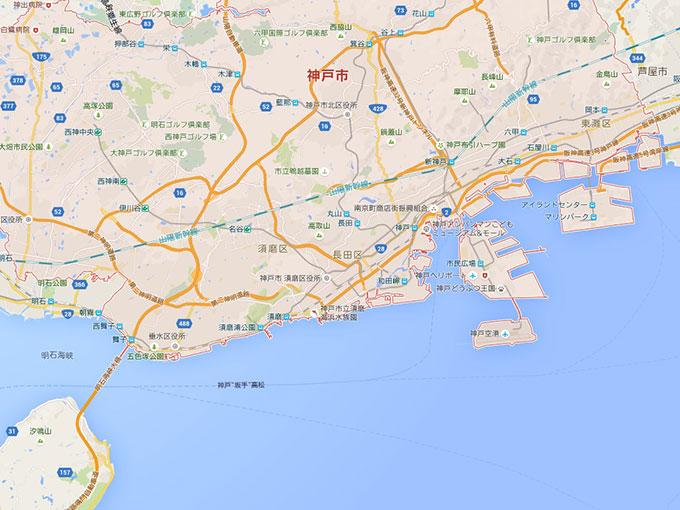 神戸の釣り場イメージ